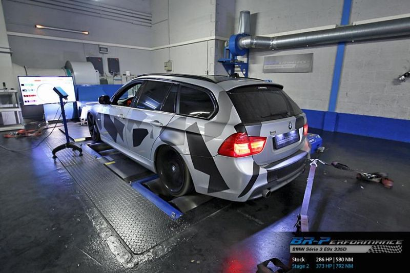 BMW 335D E91 Chiptuning 373PS 792NM by BR Performance 2 BMW 335D E91 mit 373PS & 792NM by BR Performance