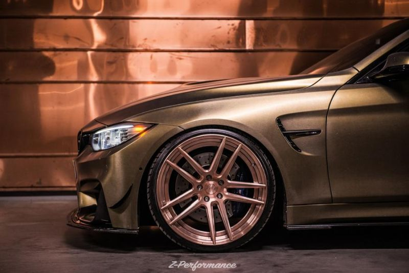 BMW M4 F82 auf 21 Zoll Z Performance Alu's Tuning 1 Z Performance Wheels   auf dem Weg zur Perfektion