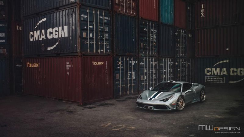 Brixton Forged 1 of 1 Tailored Alufelgen Tuning Ferrari 458 Speciale 4 Einmalig   Brixton Forged 1 of 1 Tailored Alu's am 458 Speciale