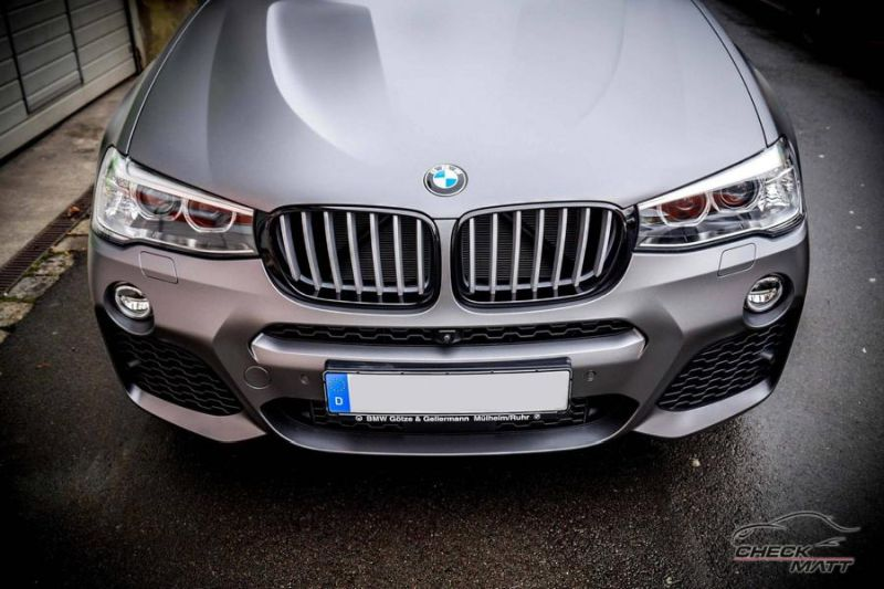 Check Matt Dortmund Tuning Graphit Grau Folierung BMW X4 F26 2 Check Matt Dortmund   Graphit Grau Folierung am BMW X4 F26
