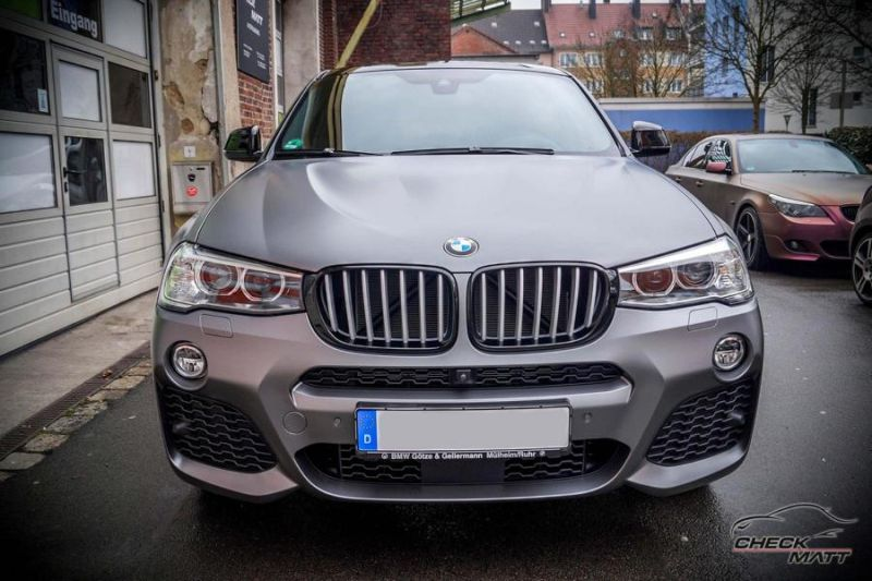 Check Matt Dortmund Tuning Graphit Grau Folierung BMW X4 F26 3 Check Matt Dortmund   Graphit Grau Folierung am BMW X4 F26