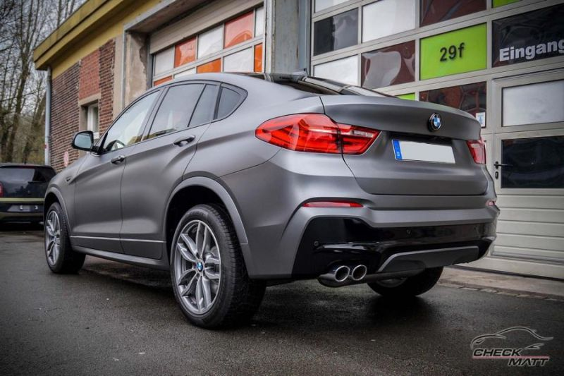 Check Matt Dortmund Tuning Graphit Grau Folierung BMW X4 F26 6 Check Matt Dortmund   Graphit Grau Folierung am BMW X4 F26