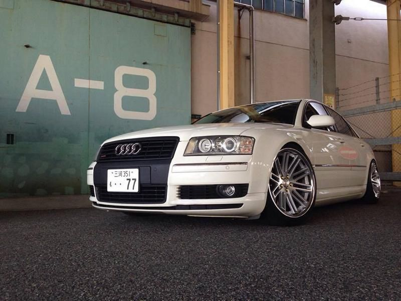 Concept One Wheels CS20 Audi A8 Tuning 1 Dezent   Concept One Wheels CS20 am Audi A8 in Weiß