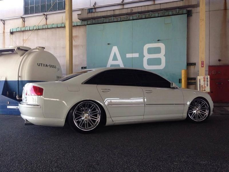 Concept One Wheels CS20 Audi A8 Tuning 2 Dezent   Concept One Wheels CS20 am Audi A8 in Weiß