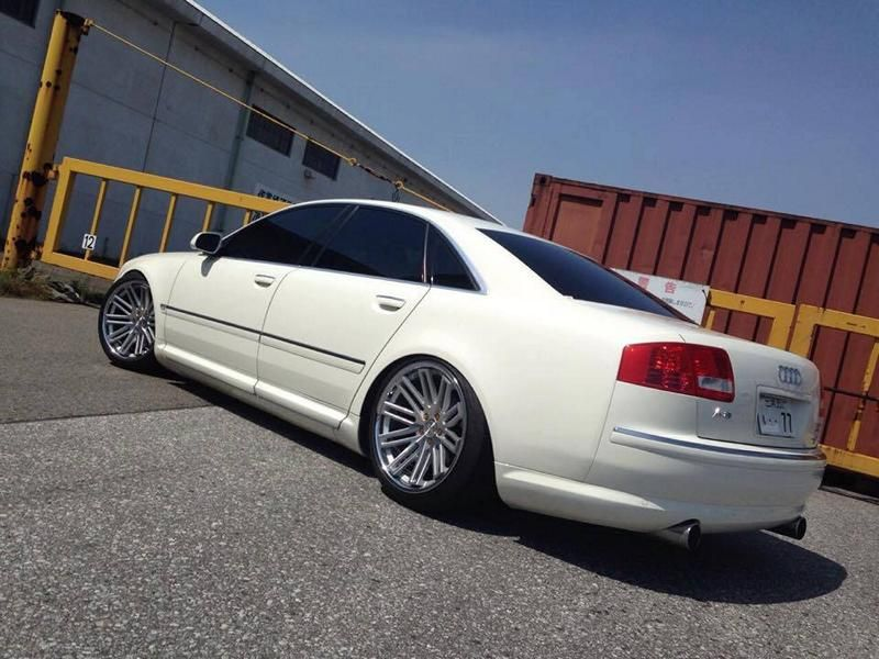 Concept One Wheels CS20 Audi A8 Tuning 3 Dezent   Concept One Wheels CS20 am Audi A8 in Weiß