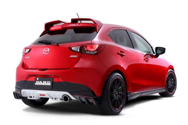 offiziell damd tuning zeigt bodykit f r den mazda 2. Black Bedroom Furniture Sets. Home Design Ideas