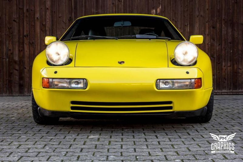 Dark Yellow Gloss Porsche 928 GT by SchwabenFolia Tuning 8 Dark Yellow Gloss Porsche 928 GT by SchwabenFolia