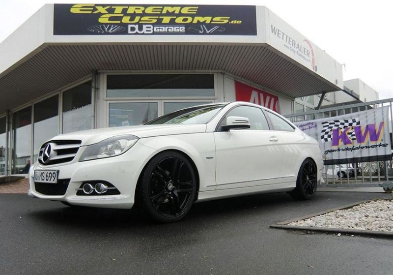 Extreme Customs Germany Mercedes C Coupe MAM Felgen Tuning 1 Dezent   Extreme Customs Germany Mercedes C Coupe