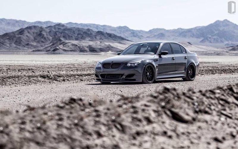 Grigio Telesto BMW E60 M5 mit KW HRE Alufelgen 1 Grigio Telesto grauer BMW E60 M5 mit KW & HRE Alufelgen