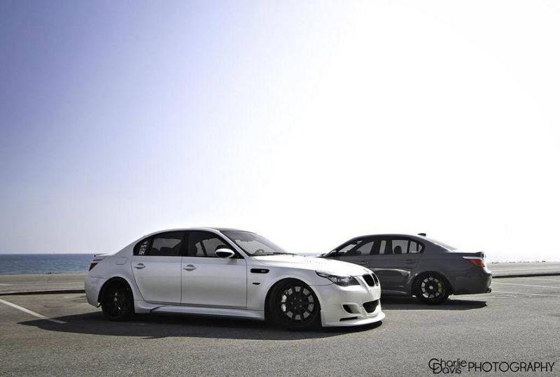 Grigio Telesto BMW E60 M5 mit KW HRE Alufelgen 8 Grigio Telesto grauer BMW E60 M5 mit KW & HRE Alufelgen