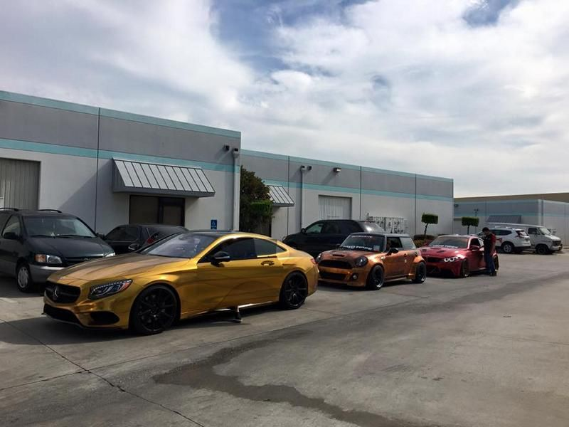 Impressive Wrap Gold Mercedes C217 Coupe Folierung Zito Tuning 2