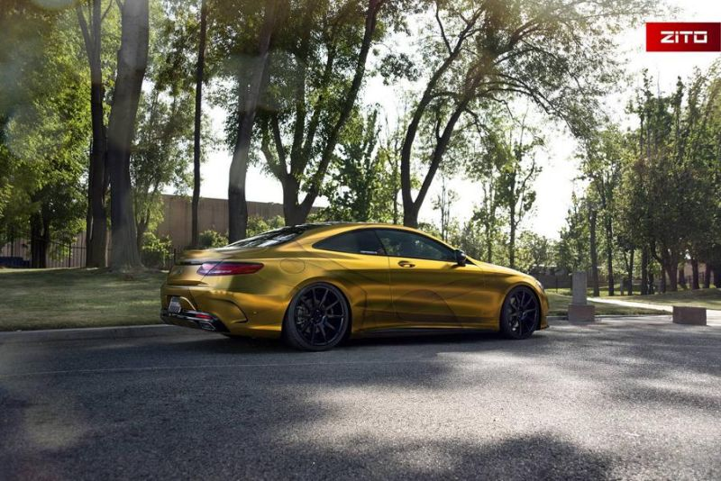 Impressive Wrap Mercedes C217 Gold Folierung Wrapping Zito Tuning 3