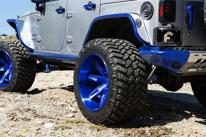 Jeep Wrangler Forgiato Esporre Wheels Tuning 4 Mega Offroader   Jeep Wrangler auf Forgiato Wheels Alu's