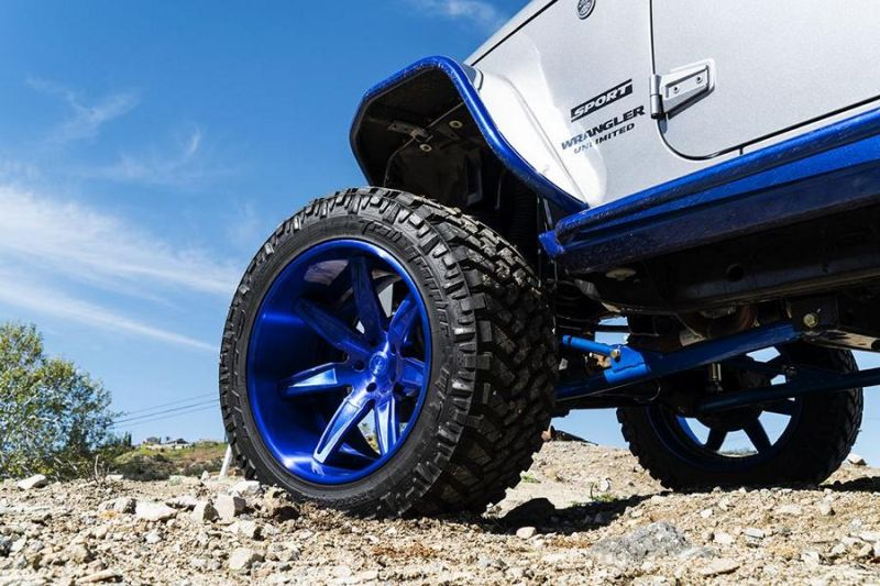 Jeep Wrangler Forgiato Esporre Wheels Tuning 5 Mega Offroader   Jeep Wrangler auf Forgiato Wheels Alu's