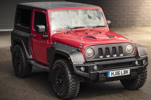 jeep wrangler sahara 3.6 black hawk carreggiata larga edition red (2