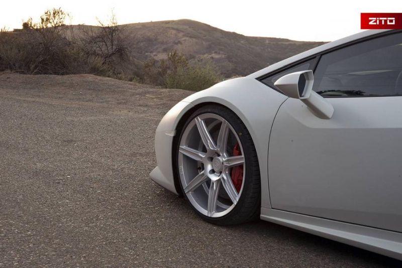 Lamborghini Huracan Bianco Novus Tuning Zito Wheels ZS07 12