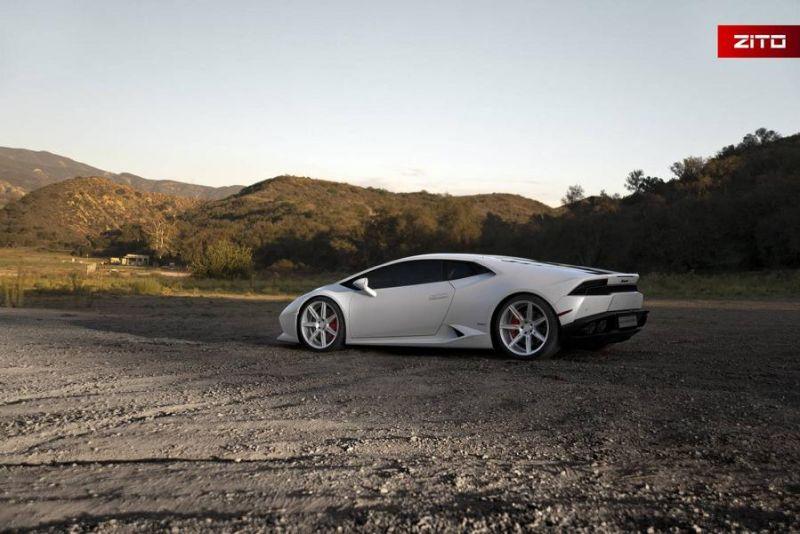 Lamborghini Huracan Bianco Novus Tuning Zito Wheels ZS07 3