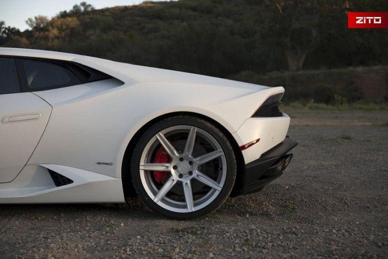 Lamborghini Huracan Bianco Novus Tuning Zito Wheels ZS07 8