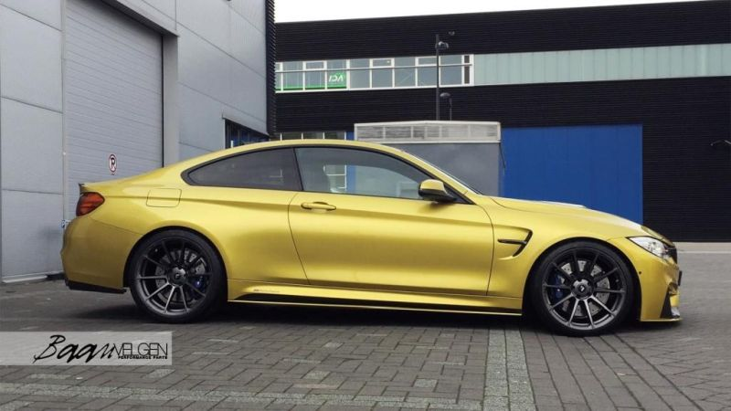 M Performance Parts Vorsteiner KW BMW M4 F82 Baan Velgen Tuning 2 M Performance Parts und Vorsteiner Alu's am BMW M4 F82