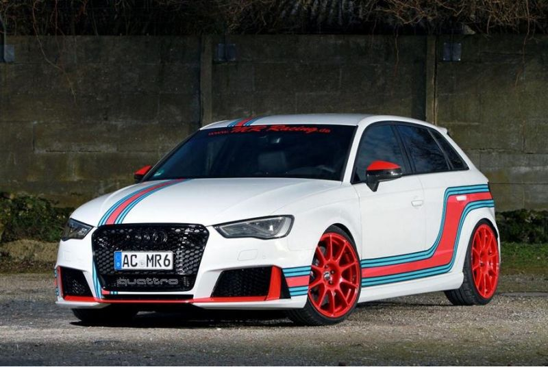 Martini AUDI RS3 8V 535 PS MR Racing Tuning 1 Fertig   Martini AUDI RS3 8V mit 535 PS von MR Racing