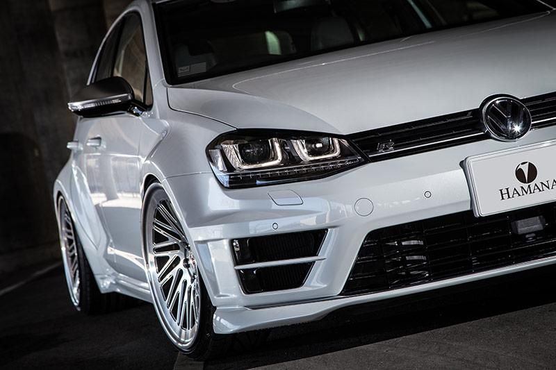 vw golf 7r widebody vossen wheels by hamana tuning. Black Bedroom Furniture Sets. Home Design Ideas