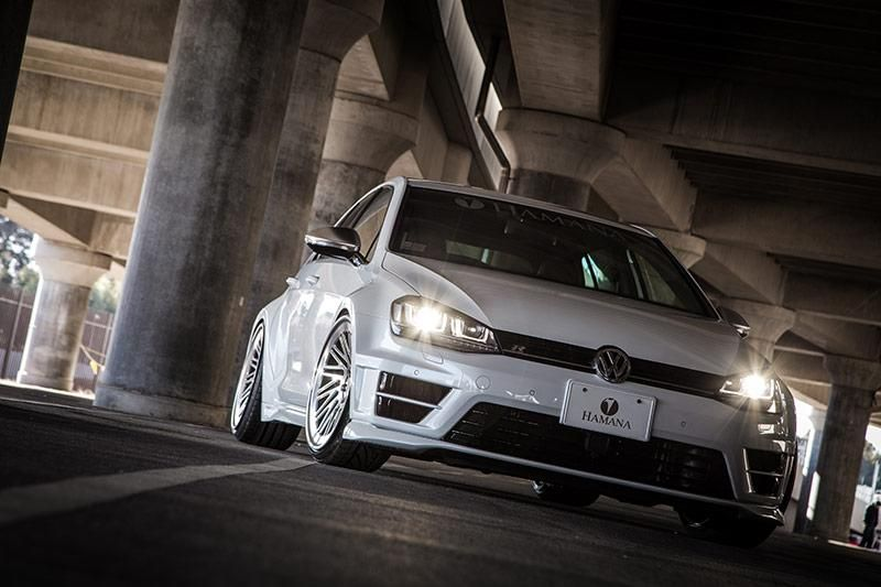 VW Golf 7R Widebody Vossen LC 106T Hamana Tuning 15 VW Golf 7R Widebody & Vossen Wheels by Hamana Tuning