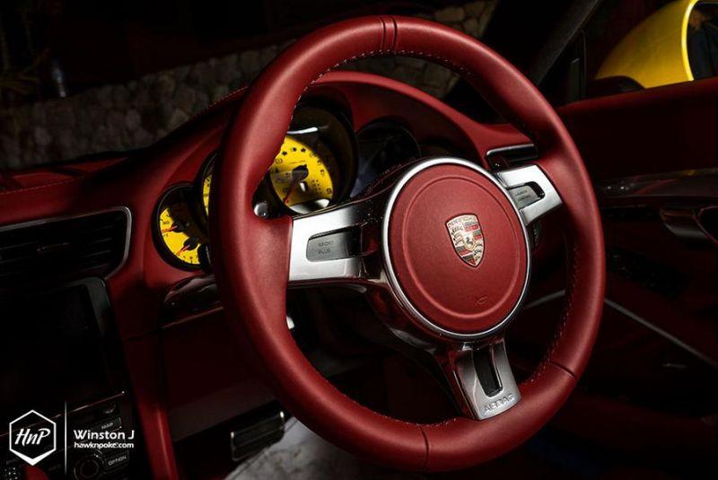 Vorsteiner Porsche 911 (991) Gelb 20 Zoll ADV7 Alufelgen Tuning 13