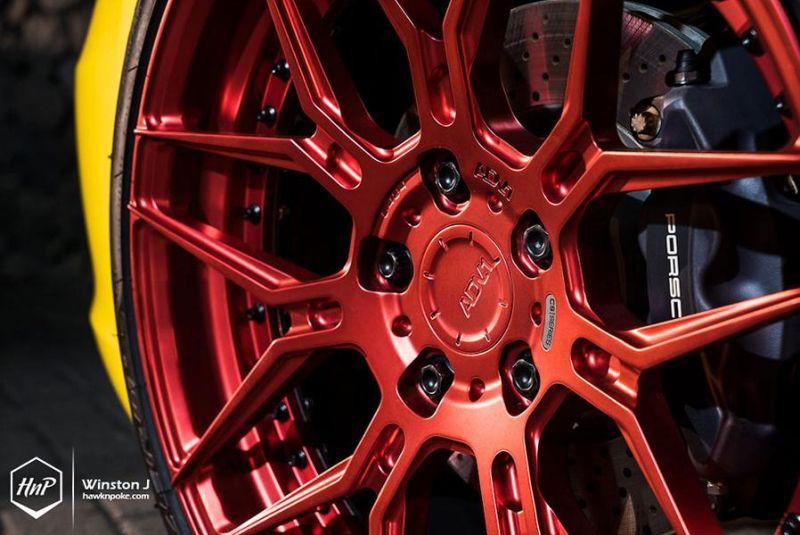 Vorsteiner Porsche 911 (991) Gelb 20 Zoll ADV7 Alufelgen Tuning 3