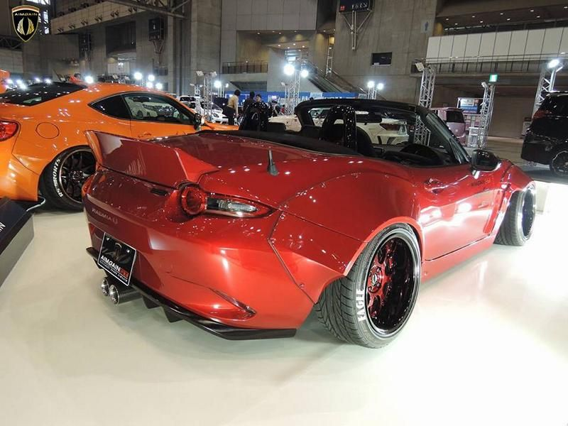 Aimgain Mazda MX 5 Widebody Kit GT Tuning 2 Doppelte Breite   Aimgain Mazda MX 5 mit Widebody Kit