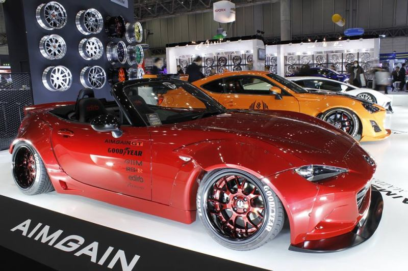 Aimgain Mazda MX 5 Widebody Kit GT Tuning 3 Doppelte Breite   Aimgain Mazda MX 5 mit Widebody Kit