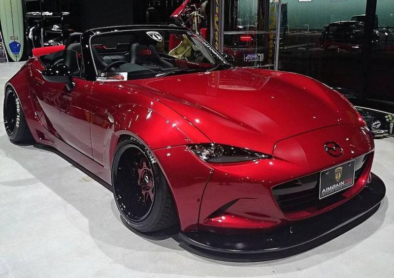 Aimgain Mazda MX 5 Widebody Kit GT Tuning 4 Doppelte Breite   Aimgain Mazda MX 5 mit Widebody Kit