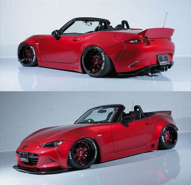Aimgain Mazda MX 5 Widebody Kit GT Tuning 5 Doppelte Breite   Aimgain Mazda MX 5 mit Widebody Kit