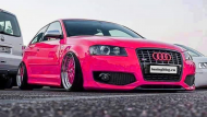 Audi A3 Folierung Wrapping Pink Rosa Tuning 2 190x107 For Girls? Audi A3 Folierung   Wrapping in Pink by tuningblog.eu