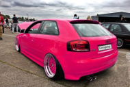 Audi A3 Folierung Wrapping Pink Rosa Tuning 3 190x127 For Girls? Audi A3 Folierung   Wrapping in Pink by tuningblog.eu