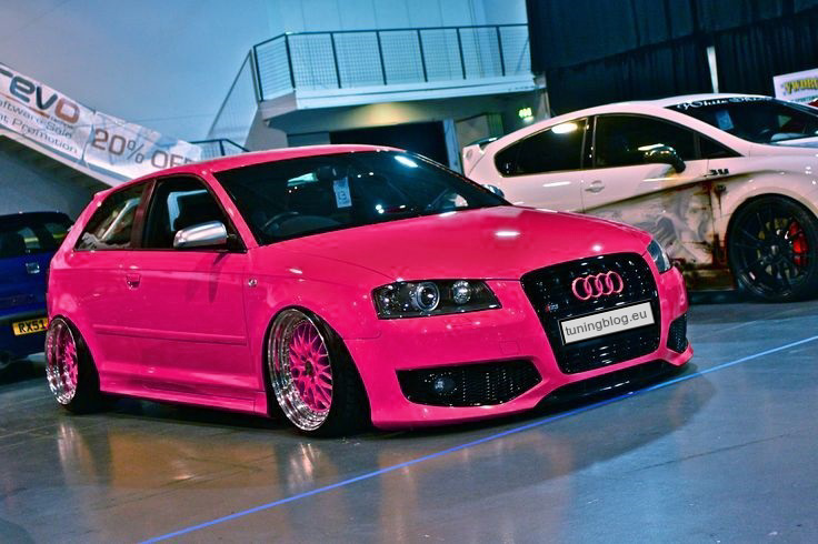 for girls audi a3 folierung wrapping in pink by magazin. Black Bedroom Furniture Sets. Home Design Ideas