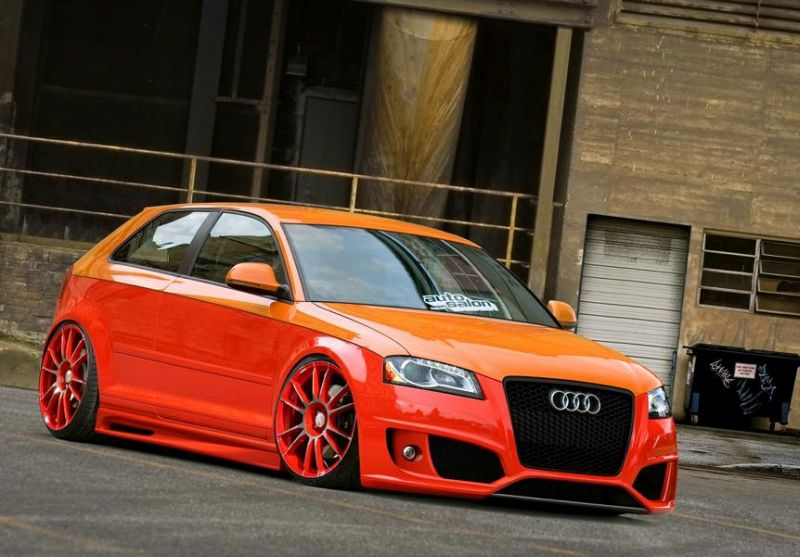 Audi A3 S3 Orange Wrapping Folierung Tuningblog.eu 1