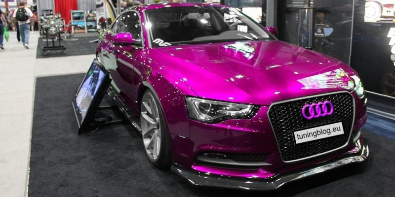 Audi A5 Rendering tuningblog.eu Wrapping Purple 1