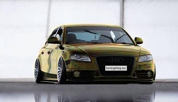 Audi A5 Rotiform Slammed Folierung Wrapping tuningblog.eu  Audi A4 mit Chrom Folierung / Wrapping by tuningblog.eu