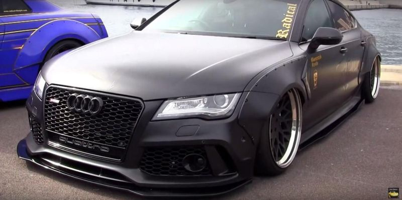 Audi A7 Tdi RS7 Rocket Bunny Kit Airride Tuning 6 Video: Ultra extrem   Audi A7 Tdi mit Rocket Bunny Kit & Airride