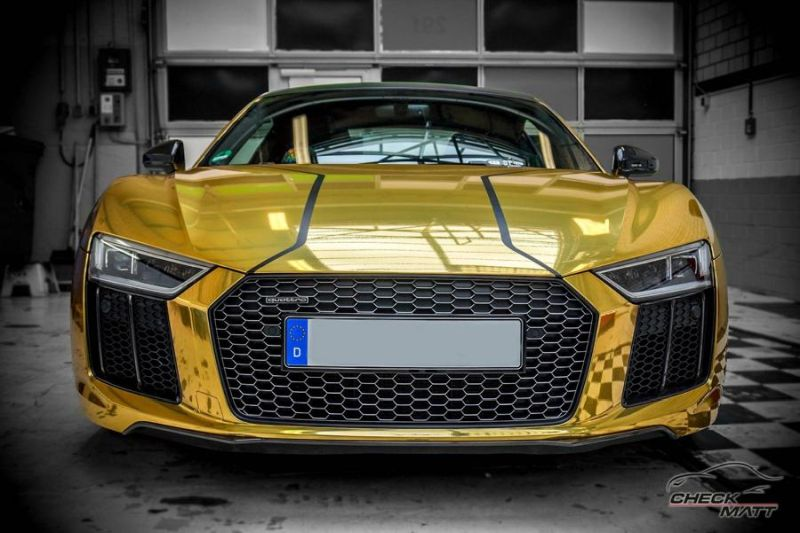 Audi R8 Gold Chrom Folierung Check Matt Dortmund Tuning 1 Neuer Audi R8 mit Gold Chrom Folierung by Check Matt Dortmund