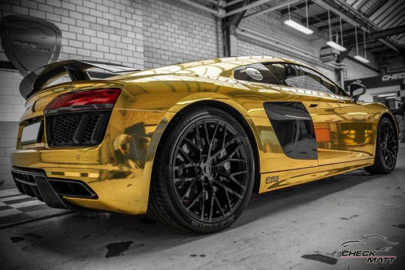 Audi R8 Gold Chrom Folierung Check Matt Dortmund Tuning 4 Neuer Audi R8 mit Gold Chrom Folierung by Check Matt Dortmund