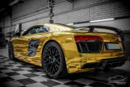 Audi R8 Gold Chrom Folierung Check Matt Dortmund Tuning 8 190x127 Neuer Audi R8 mit Gold Chrom Folierung by Check Matt Dortmund
