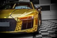 Audi R8 Gold Chrom Folierung Check Matt Dortmund Tuning 9 190x127 Neuer Audi R8 mit Gold Chrom Folierung by Check Matt Dortmund