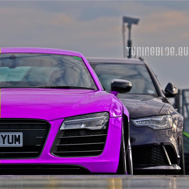 Audi R8 und RS6 Avant Tuning tuninblog.eu Pink Folierung Wrapping 1