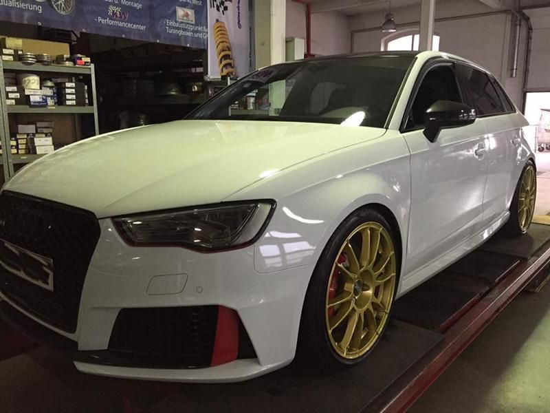 audi rs3 mit kw v3 19 zoll oz felgen by mr racing. Black Bedroom Furniture Sets. Home Design Ideas