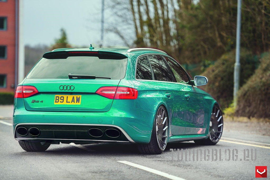 Audi RS4 Avant B8 Tuning Wrapping Mint Gr%C3%BCn tuningblog.eu  Audi RS4 Avant B8 mit Folierung in Mint by tuningblog.eu
