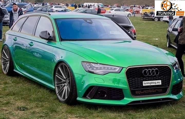 Audi Avant Rs6 C7 Green In Photomontage In Discreet