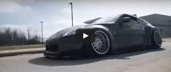 BAGGED Widebody Nissan 370Z Tuning Video: Verrückt   BAGGED Widebody Nissan 370Z Tuning