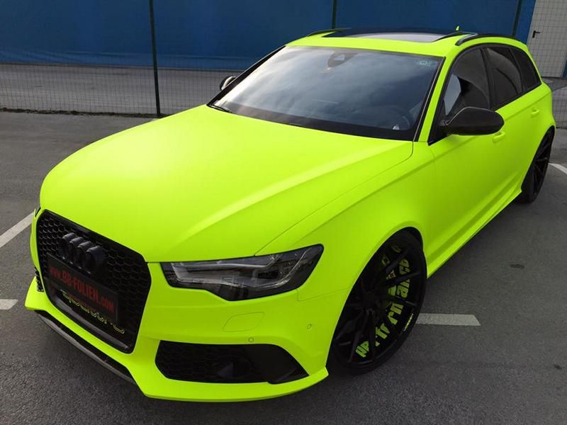 BB Folien Fluorescent Neon Folierung Audi RS6 C7 Avant Tuning 1 Fluorescent Neon Folierung am Audi RS6 C7 Avant by BB Folien