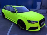 BB Folien Fluorescent Neon Folierung Audi RS6 C7 Avant Tuning 2 190x143 Fluorescent Neon Folierung am Audi RS6 C7 Avant by BB Folien